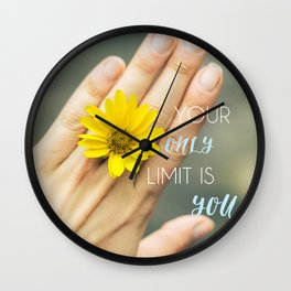 Motivation card. Your only limit is you Wall Clock