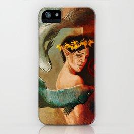 Pisces zodiac tarot card merrill dragon age iPhone Case