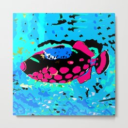 Clown Trigger Fish Metal Print