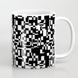 geometric decomposition in black Coffee Mug