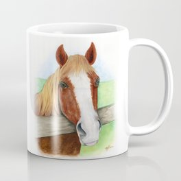 Cinnamon Horse Watercolor Coffee Mug