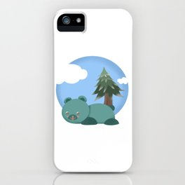 lazy bear iPhone Case