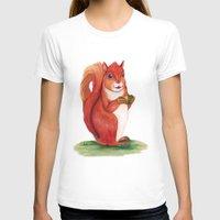 squirrel T-shirts featuring Squirrel by Yana Elkassova