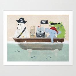 the pirate tub Art Print