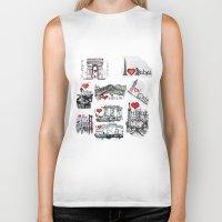 cities Biker Tanks featuring Cities 1  by sladja