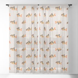 Clown loach Sheer Curtain
