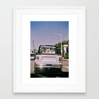 jeep Framed Art Prints featuring Jeep by Warren Silveira + Stay Rustic