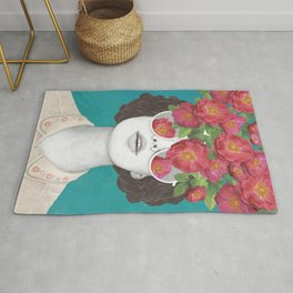 The optimist // rose tinted glasses Rug