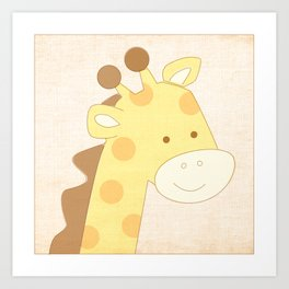 Giraffe Jungle Series Print Art Print