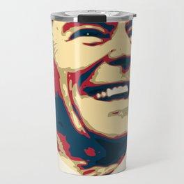 Ronald Reagan Retro Propaganda Travel Mug
