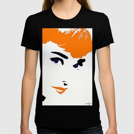 Audrey So Beautful In Orange and Blue T-shirt