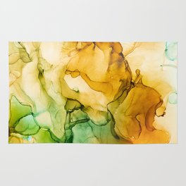 Turning Fall  - Abstract Ink Painting Rug