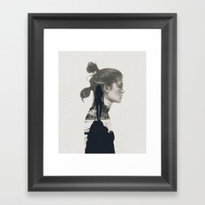 into the water i jump Framed Art Print