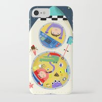 spaceship iPhone & iPod Cases featuring Spaceship  by ilana exelby