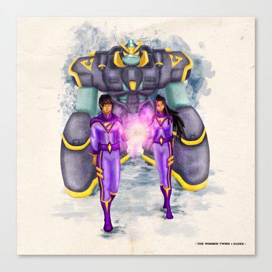 The Wonder Twins + Gleek Canvas Print