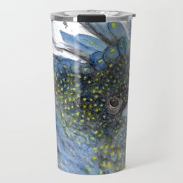 """Watercolor Painting of Picture """"Black Cockatoo"""" Travel Mug"""