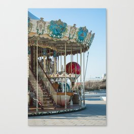 Carrousel du Touquet, Boulevard of the beach Canvas Print