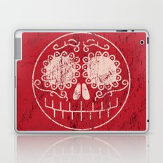 Distressed Sugar Skull Laptop & iPad Skin