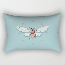 Orange and Blue Insect Rectangular Pillow