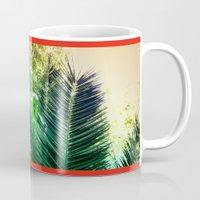 palms Mugs featuring PALMS by Teresa Madruga
