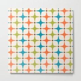 Mid Century Modern Star Pattern 323 Metal Print