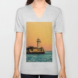 Old Lighthouse Unisex V-Neck