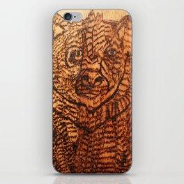 Bear pyrography iPhone Skin