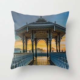 The Victorian Bandstand at Brighton Throw Pillow