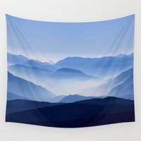 parks and recreation Wall Tapestries featuring Mountain Shades by General Design Studio