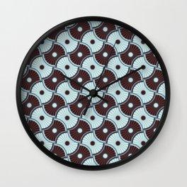 Brawn blue pattern 5 Wall Clock