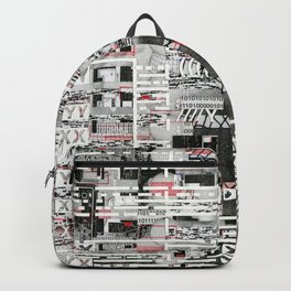 Natural Selection Doesn't Play Fair (P/D3 Glitch Collage Studies) Backpack
