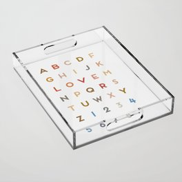 Letter Love - Color Acrylic Tray