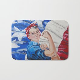 Rosie the Riveter Bath Mat
