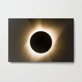 Totality - 2017 Total Solar Eclipse with Golden Corona Metal Print
