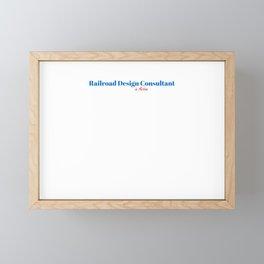 Happy Railroad Design Consultant Framed Mini Art Print