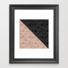 Brown , gray , mixed , patchwork Framed Art Print