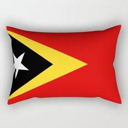 East Timor country flag Rectangular Pillow