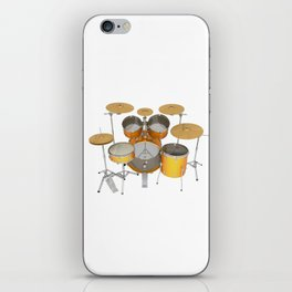 Yellow Drum Kit iPhone Skin