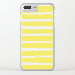 Irregular Stripes Yellow Clear iPhone Case