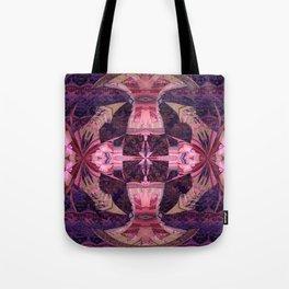 Magenta Power Portal Mandala Tote Bag