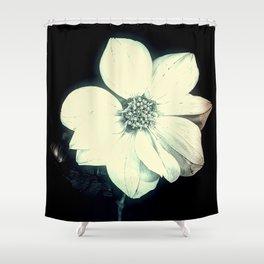 White Dahlia, Christmas Star Shower Curtain