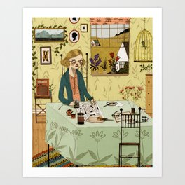 The Crossword Puzzle Art Print