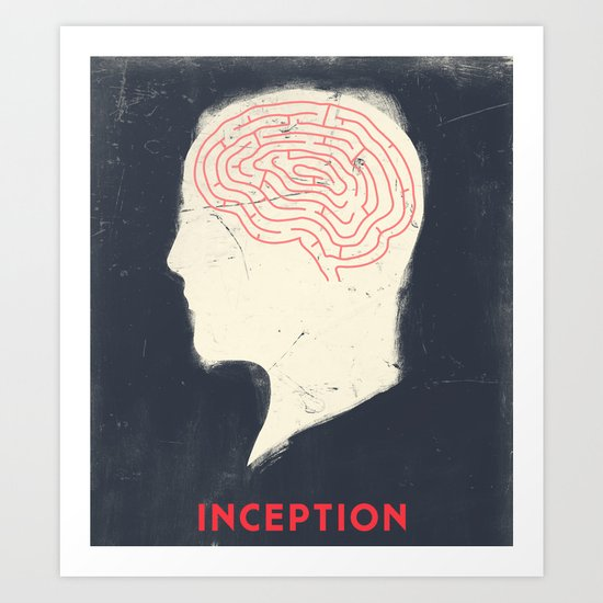 Inception - Movie Poster Art Print