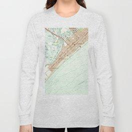 Vintage Map of Wildwood NJ (1955) Long Sleeve T-shirt