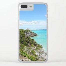 Mexican Beach Clear iPhone Case