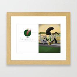 Alen (with caption) Framed Art Print