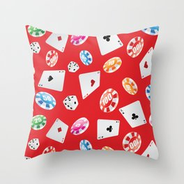 #casino #games #accessories #pattern 5 Throw Pillow