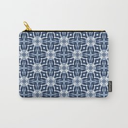 Watercolor Shibori Indigo Carry-All Pouch