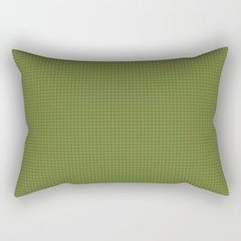 Abilene, Bourbon on Forest Green Ginghamite Rectangular Pillow
