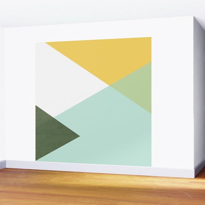 Geometrics - citrus & concrete Wall Mural